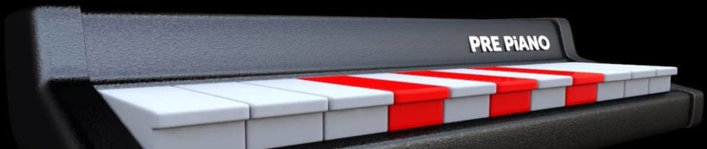 color-coded piano keyboard